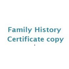 Family History Certificate Copy